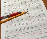 2 Multiplication Facts Quizzes - 100 questions each