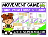Distance Learning - 2.NBT.1 - Place Value Movement - hundreds, tens, and ones
