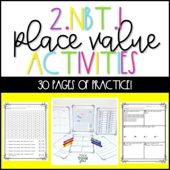 2.NBT.1 Place Value Second Grade Activities