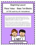 2.NBT.1 Place Value Understanding - Base Ten Block Representation