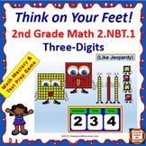 2.NBT.1 Interactive Test Prep Game - Jeopardy 2nd Grade Math: Using 3-Digits