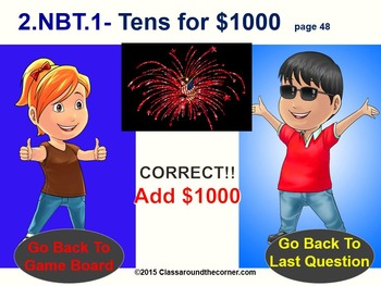 2.NBT.1 Interactive Test Prep Game - Jeopardy 2nd Grade Math: Using 3-Digits