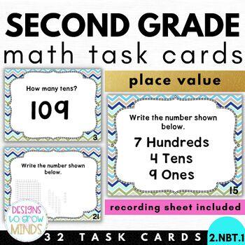 2.NBT.1 Task Cards- Place Value