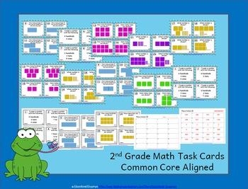 2.NBT.1 Task Cards: Place Value Task Cards 2.NBT.1 (2nd-Grade Math Task Cards)