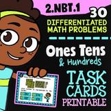2.NBT.1 Task Cards ✦ Place Value ✦ 2nd Grade Google Classroom™ ✦ 1s 10s & 100s
