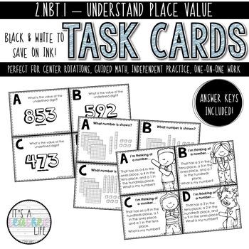 2.NBT.1 Task Cards | Understanding Place Value