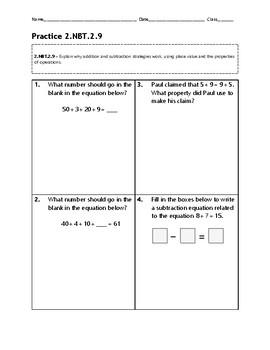 2.NBT.2.9 Practice