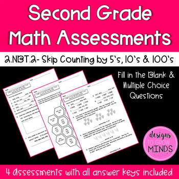 2.NBT.2 Assessments- Skip Counting by 5's, 10's, and 100's