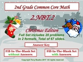 2.NBT.2 Christmas Edition 2nd Grade Math - Place Value, Skip Count by 5, 10, 100