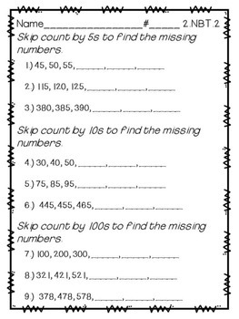 2.NBT.2 Skip Counting