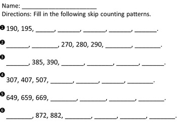 2.NBT.2 Skip Counting Math Field Day
