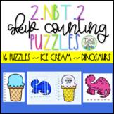 2.NBT.2 Skip Counting Puzzles Second Grade