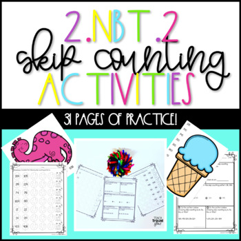 2.NBT.2 Skip Counting Second Grade Activities