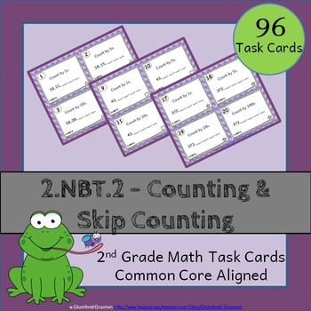 2.NBT.2 Task Cards: Counting & Skip Counting Task Cards 2.NBT.2 (2nd Grade Math)