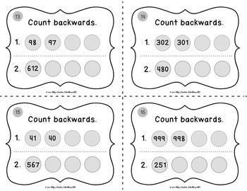 2.NBT.2 Task Cards - Counting to 1000 and Skip Counting by 2, 5, 10, 100