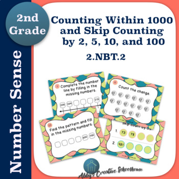 2.NBT.2 Task Cards - Counting to 1000 and Skip Counting by