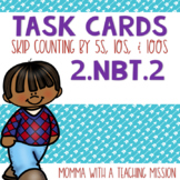 2.NBT.2 Task Cards Skip Counting by 5s, 10s, and 100s