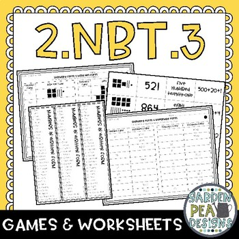 2.NBT.3 Games and Worksheets