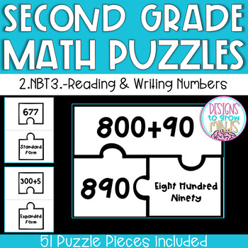 2.NBT.3 Puzzle Matching Activity- Reading and Writing Numbers