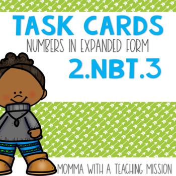 2.NBT.3 Task Cards Expanded Form