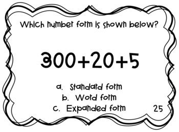 2.NBT.3 Task Cards- Number Form