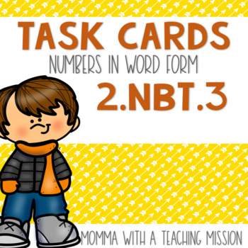 2.NBT.3 Task Cards Word Form