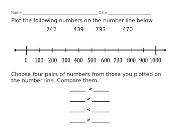 2.NBT.4 Plotting and comparing