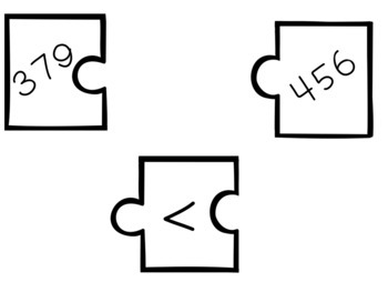 2.NBT.4 Puzzle Matching Activity- Comparing Three Digit Numbers