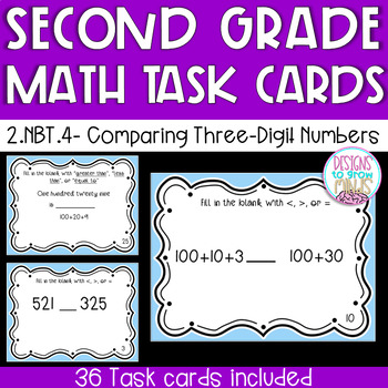 2.NBT.4 Task Cards- Comparing Three-Digit Numbers