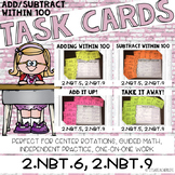 2.NBT.5, 2.NBT.9 Task Cards | 2-Digit Addition and Subtraction
