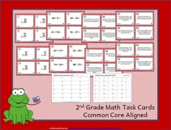 2.NBT.5 Task Cards: Adding and Subtracting Whole Numbers Task Cards 2.NBT.5