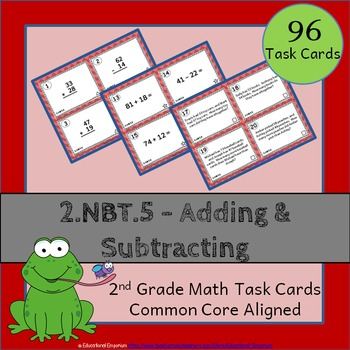 2.NBT.5 Task Cards: Adding and Subtracting Whole Numbers T