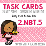 2.NBT.5 Task Cards Fluently adding & subtracting within 100