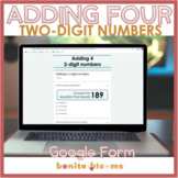 2.NBT.6 Adding Four Two-Digit Numbers Google Forms