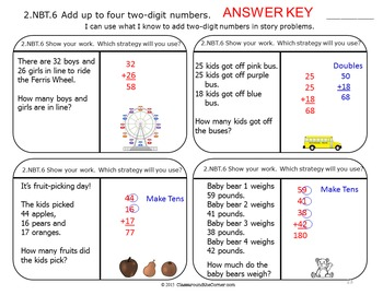 2.NBT.6 Math 2nd Grade NO PREP Task Cards—Adding 2-Digit Numbers for 2.NBT.6