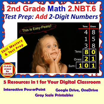 2.NBT.6 Math Grade 2 Interactive Test Prep—ADD 2-DIGIT NUMBERS 2.NBT.6