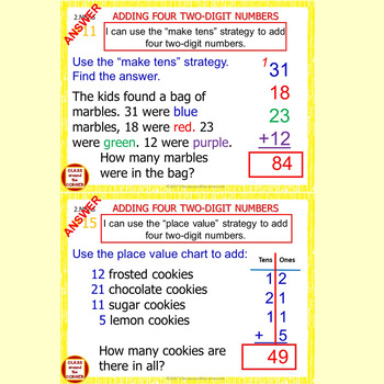 2.NBT.6 Math Interactive Test Prep – 2-digit Numbers Strategies – in 3 Formats