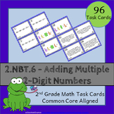2.NBT.6 Task Cards ⭐ Adding Two-Digit Numbers - Centers