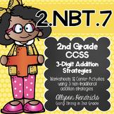 2.NBT.7  3 Digit Addition Strategy Pack NEW Strategies CCS