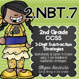 2.NBT.7  3 Digit Subtraction Strategy Pack NEW Strategies