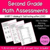 2.NBT.7 Assessments- Adding & Subtracting within 1,000
