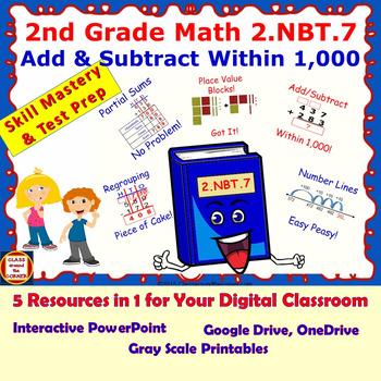 2.NBT.7 Grade 2 Math Interactive Test Prep—ADD and SUBTRAC