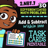 2.NBT.7 Task Cards ✦ Add & Subtract 3-Digit Numbers ✦ 2nd Grade Google Classroom