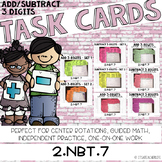 2.NBT.7 Task Cards | Add and Subtract 3-Digit Numbers