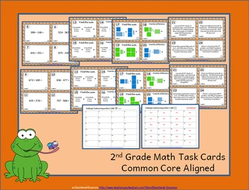 2.NBT.7 Task Cards: Adding and Subtracting within 1000 Task Cards: 2NBT7 Centers