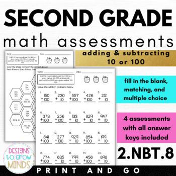 2.NBT.8 Assessments- Adding & Subtracting 10 & 100