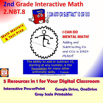 2.NBT.8 Grade 2 Math Interactive Test Prep—MENTALLY ADD OR SUBTRACT 10 or 100