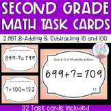 2.NBT.8 Task Cards- Adding & Subtracting 10 and 100