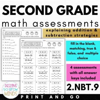 2.NBT.9 Assessments- Explaining Addition & Subtraction Strategies