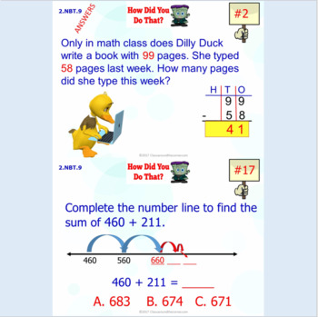 2.NBT.9 Math Interactive Test Prep: Mastering Number Strategies in 3 Formats